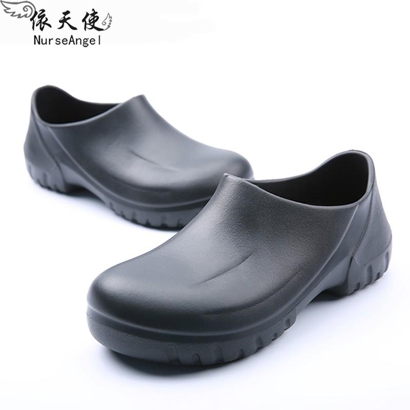 Giày nam chống trượt cho đầu bếp, bác sĩ, công nhân- dép y tế không thấm nước - giày dép chuyên dụng cho khách sạn nhà hàng nhà bếp - giày bít ngón bảo vệ chân.