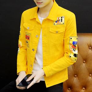外套男士秋季2021新款韩版牛仔衣服社会小伙个性ins帅气牛仔夹克