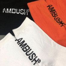 Ambush socks orange orange black and white European and American street fashion brand socks men's sports tube socks children's cotton