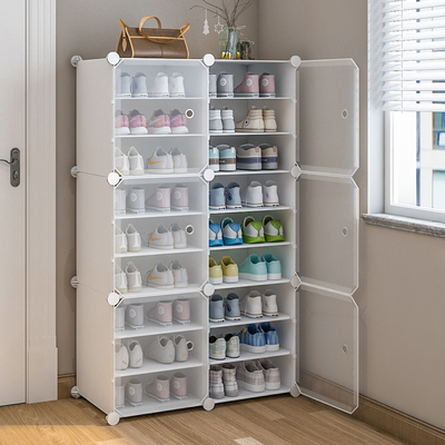 鞋柜家用门口大容量简易阳台储物柜省空间经济型小收纳鞋架玄关柜
