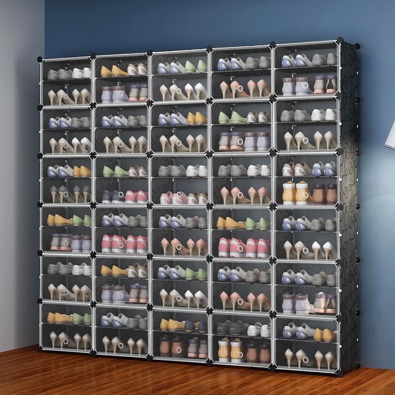 拼接塑料鞋柜简易经济型省空间家用大容量防尘门口鞋架子多功能高不包邮