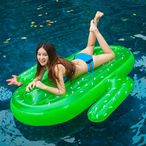 Inflatable cactus Floating boat swimming floating beach swimming equipment supplies water inflatable pad inflatable water Floating row