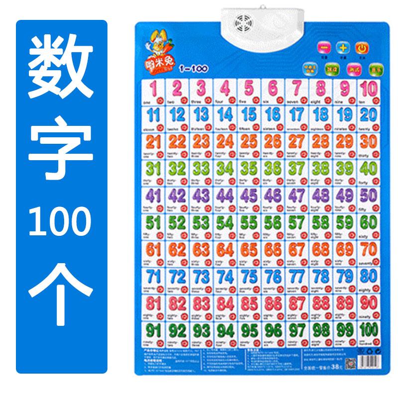 婴幼儿早教有声挂图发声全套宝宝看图识字墙贴拼音字母数认知卡片