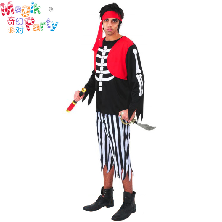 Adult costumes Cosplay costumes mens make-up dance Caribbean Pirates Captain