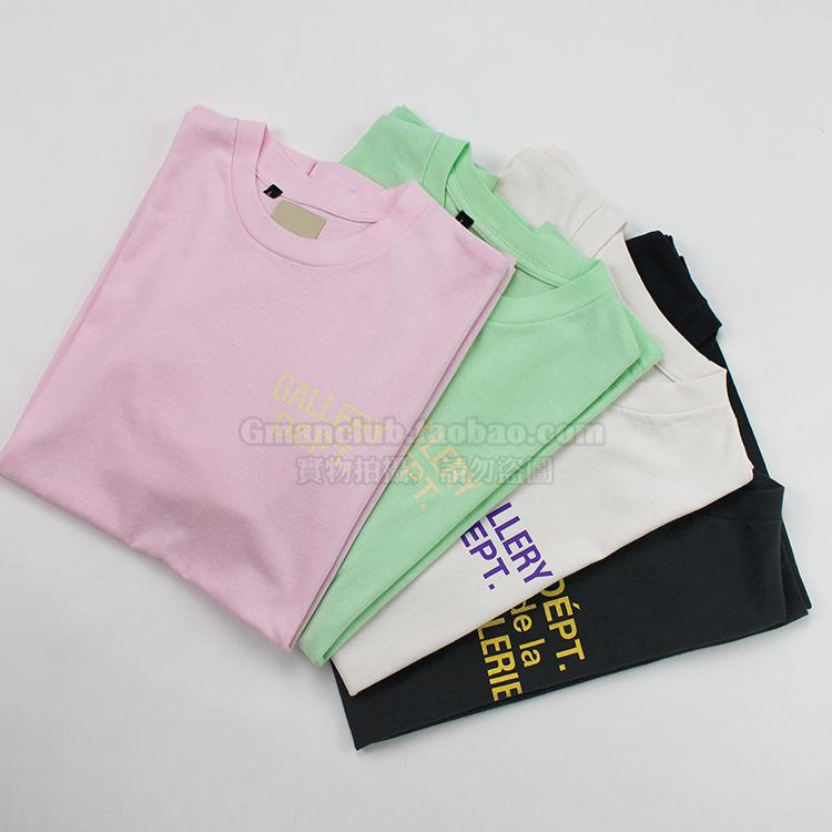 Gman高街 VIRGIL GALLERY DEPT复古棉麻基本款全棉桶织短袖TEE恤