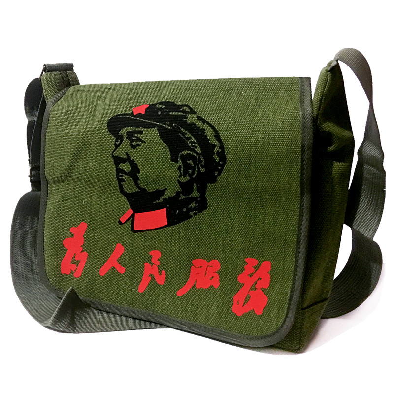 Lei Feng bag mens handbag fan BAG canvas red bag single bag Single Shoulder Bag Kit tactical retro postman bag