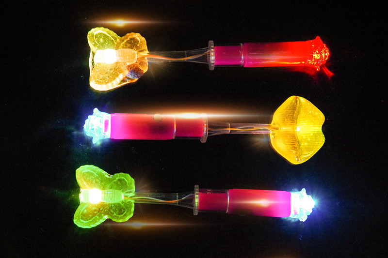 Double light lollipop LED colorful flash creative luminous candy night bar KTV sparkling candy 50 PCs