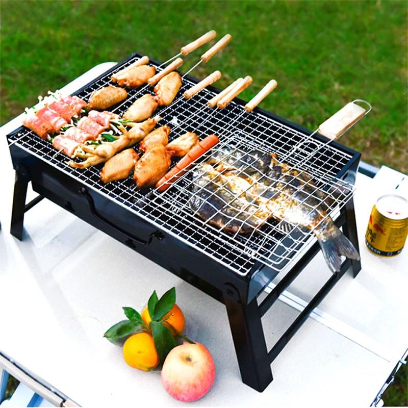 野外烧烤架户外折叠小型迷你烧烤炉子家用木炭2-3人-5人烧烤工具