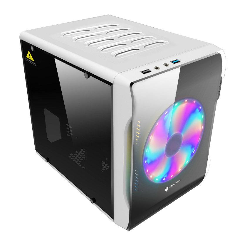 玩嘉ICE甲壳虫2代机箱 台式机电脑小机箱 itx迷你全侧透主机机箱