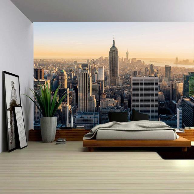 热销13件买三送一欧式复古城市风景背景布ins挂布民宿房间壁毯摄影墙布拍照装饰布