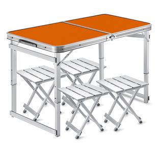 1米摆摊桌子折叠便携地推桌子地摊小桌子折叠桌椅户外便携式