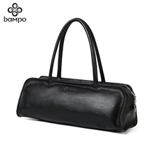 Banpo women's handbag first layer leather shoulder bag counter authentic classic fashion versatile Boston bag small bag