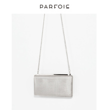 Parfois Summer Metal Lattice Chain Slant Baggage Feminine Dinner Hand Baggage 160420