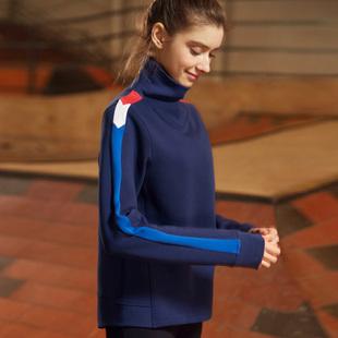 GYMNA运动健身长袖学院风瑜伽服女显瘦跑步速干衣网红宽松罩衫春