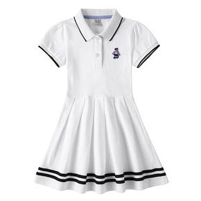 高尔夫儿童短袖polo裙女童夏季连衣裙中大童纯棉网球棒球运动长裙
