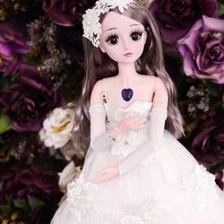 乖乖芭比娃娃礼盒包装盒大号美人鱼儿童婚纱衣服超多爱莎说话古风