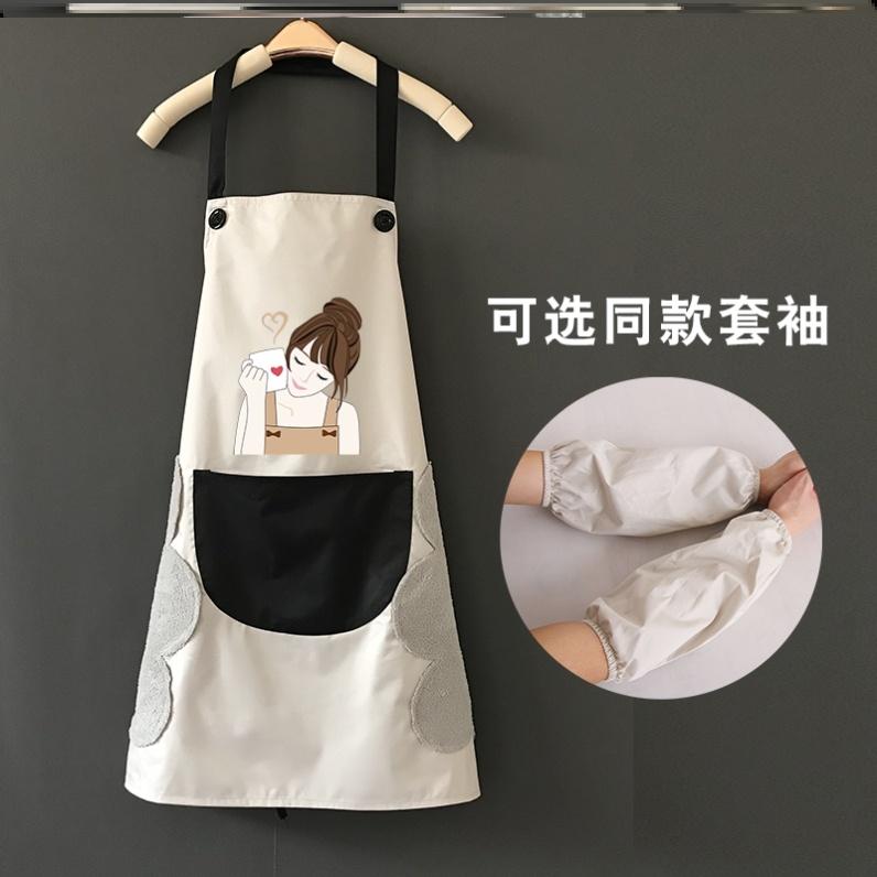 日式日本搞怪甜美成人厨房围裙防水防油女 家用 时尚学生单件煮饭
