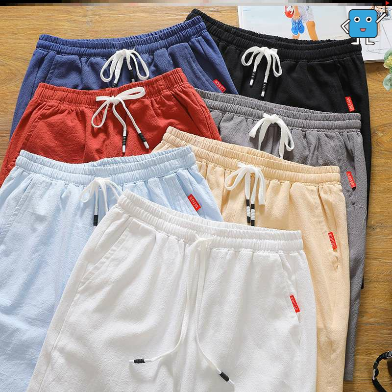 Summers new Capris mens shorts loose straight casual sports youth pants middle pants breeches breeches beach pants