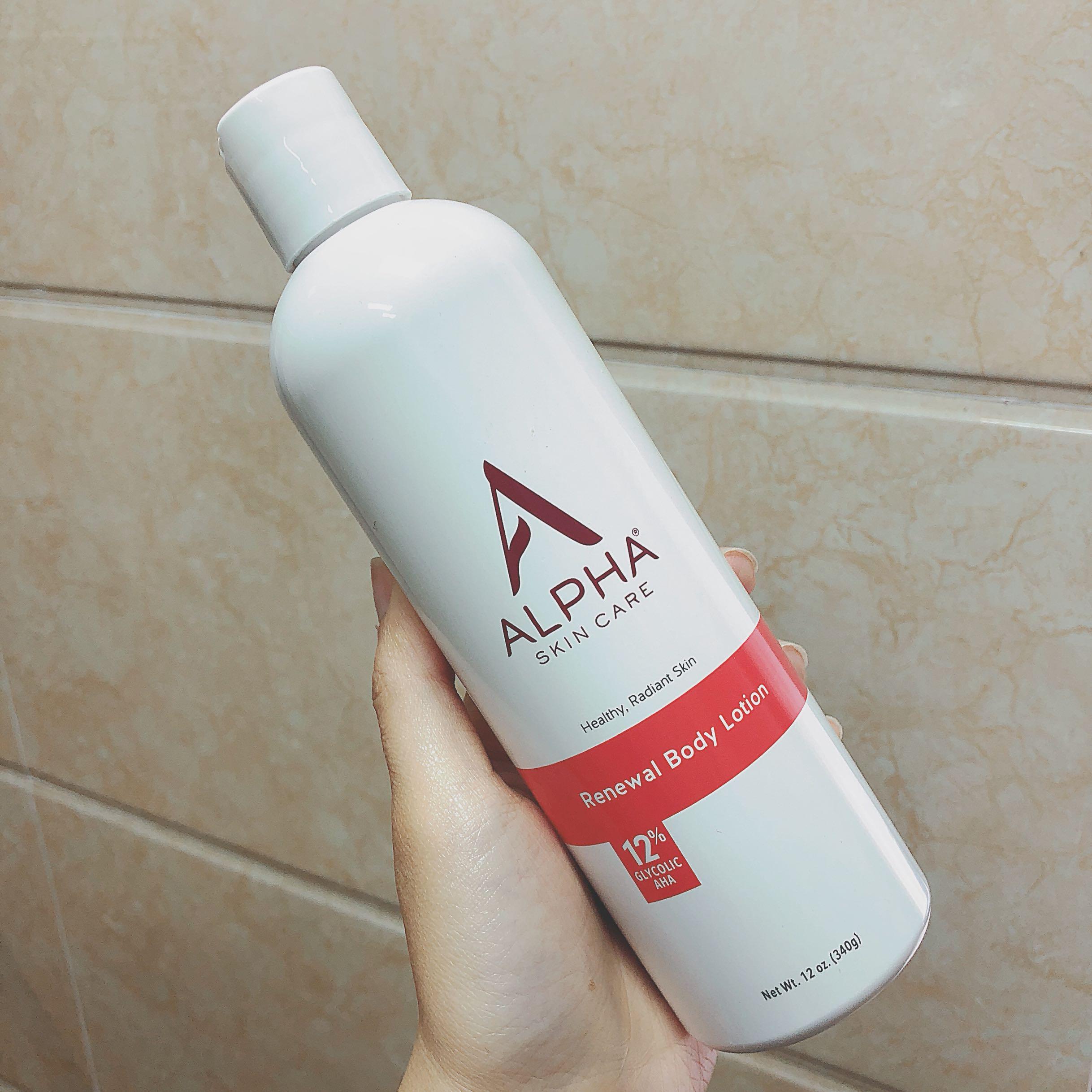 包邮美国正品Alpha Hydrox12%果酸丝滑身体乳AHA去角质鸡皮340g