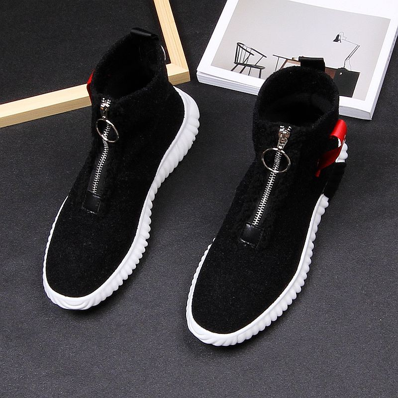 Japanese autumn mens casual shoes trend high top shoes young mens socks knitted mens boots super comfortable sports run