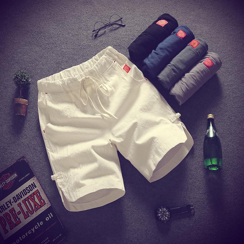 两件】夏季休闲短裤男潮运动韩版五分裤夏天宽松男士中裤沙滩裤子