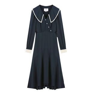 春秋韓版復古及踝長裙超仙森系連衣裙女過膝法式學生仙女冬季裙子