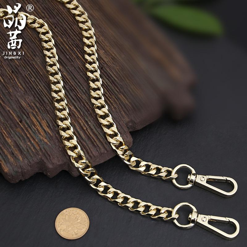 单买包包链子金属链条不易褪色8毫米八边磨链链条金属包带配件粗