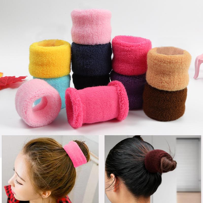 Han Jian Jians large widened hair circle womens net red headdress thick head rope coiled hair ball hair rope girls Leather Band