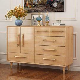 美式实木斗柜卧室收纳柜简约现代小户型储物柜子客厅电视柜五斗柜