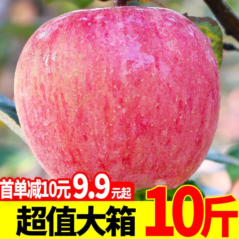 苹果水果10斤新鲜当季陕西红富士一整箱批应季冰糖心现季丑苹果脆
