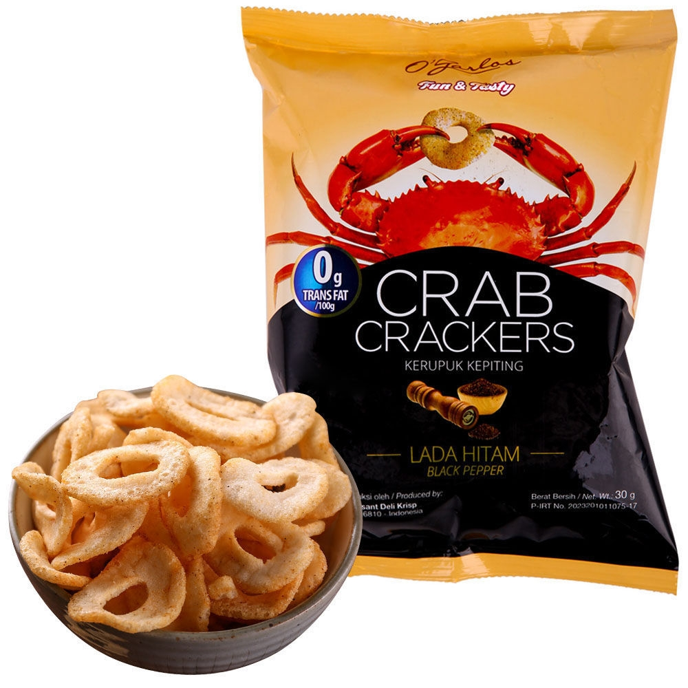 Indonesian Patong crab slice fresh shrimp slice Bali specialty wanghong leisure spicy snack imported snack puffed