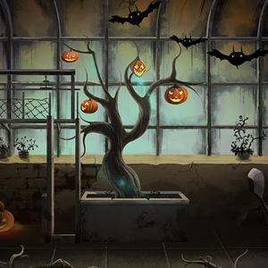 高清LED大屏幕舞台背景鬼屋黑暗卡通儿童恐怖小黑屋鬼故事图片