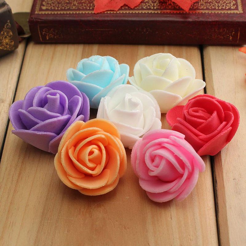 Бесплатная доставка 3.5cm моделирование пена PE роз цветок, бутон ручной работы декоративный цветок кольцо использование цветки мелкие бутон весь пакет 500 цветок, бутон