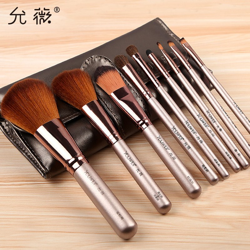 Makeup brush set, eye shadow powder, high gloss, blush, eyebrow, brush, lip brush, full set of makeup brush tools.