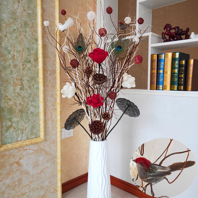 11月07日最新优惠龙柳干枝树枝客厅玄关落地隔断干花