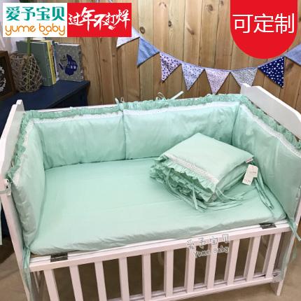 Чистый белый твердый многоцветный : хлопок ручной работы кровать для младенца кровать вокруг + кровать предприятия комплект стандарт 【3 небесный период 】