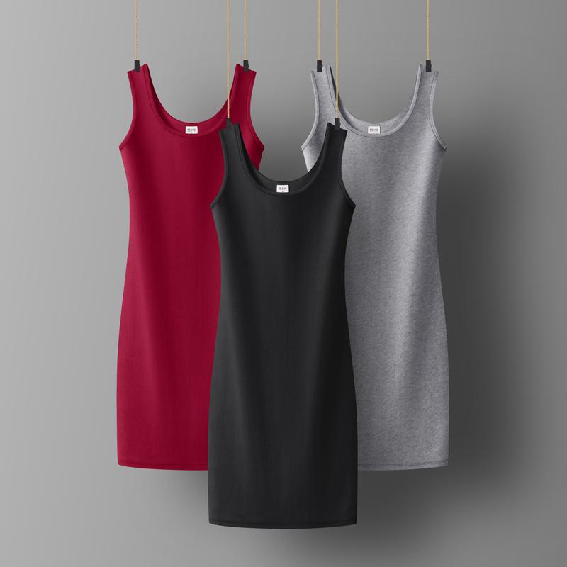 黑色连衣裙2020年新款秋装气质吊带打底内搭长款针织背心裙长裙夏
