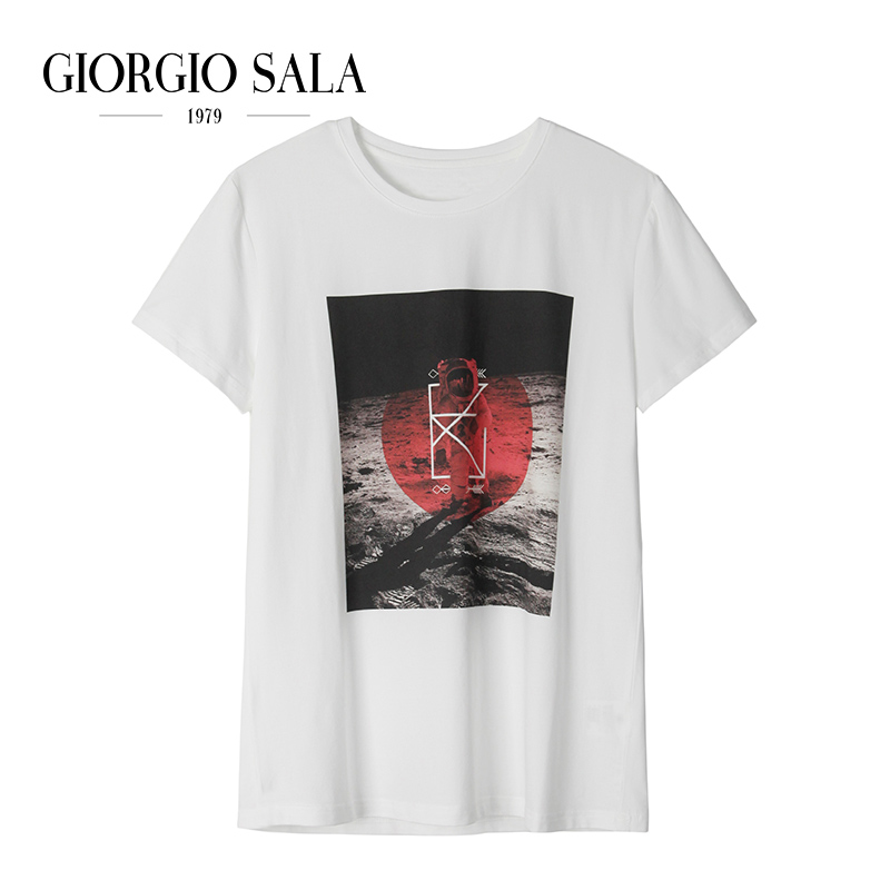 Mens basic T-shirt printed t-shirt mens fashion T-shirt pattern mens T-shirt summer half sleeve#