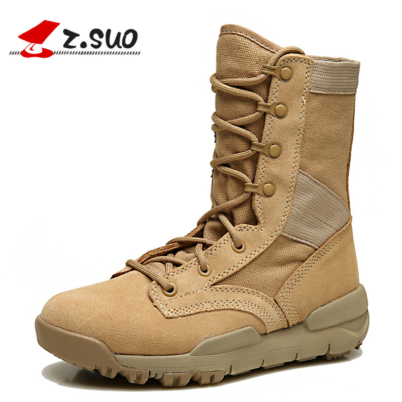 Mens Jungle Boots Mens field boots breathable outdoor shoes mountaineering leisure CS tide desert boots