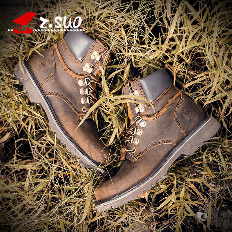 2020 New Leather Boots Mens fashion Retro High Top Mens short British Martin wind desert work boots boots