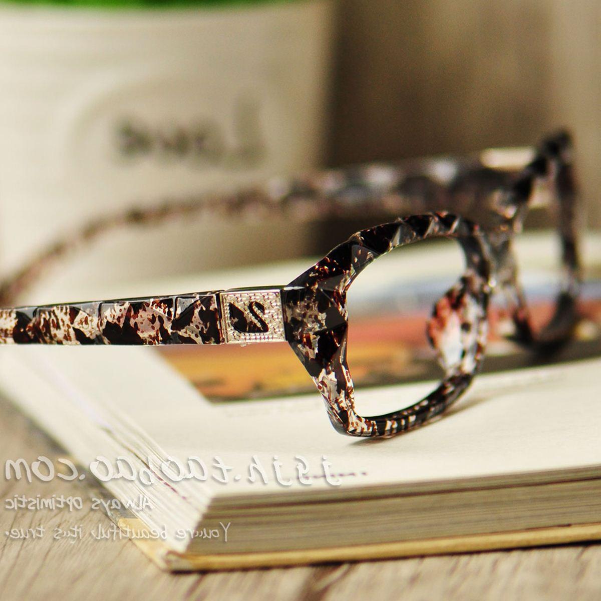 全框平光复古镜框金属装饰无镜片文艺豹纹杨丽萍眼睛时尚女眼镜架