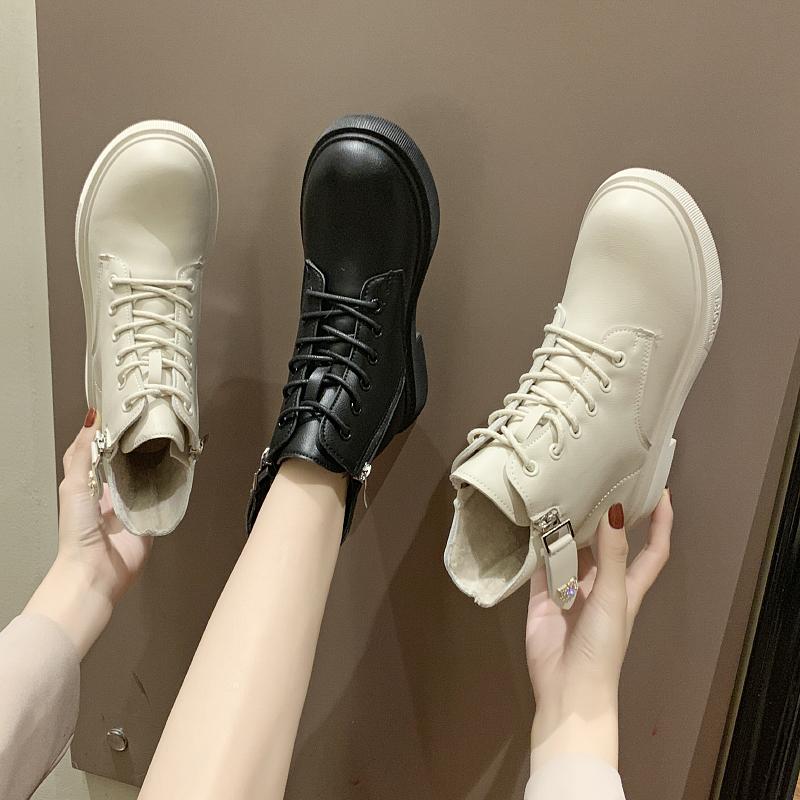 chic马丁靴女英伦风2019秋冬新款短靴学生韩版潮加绒靴子网红鞋子
