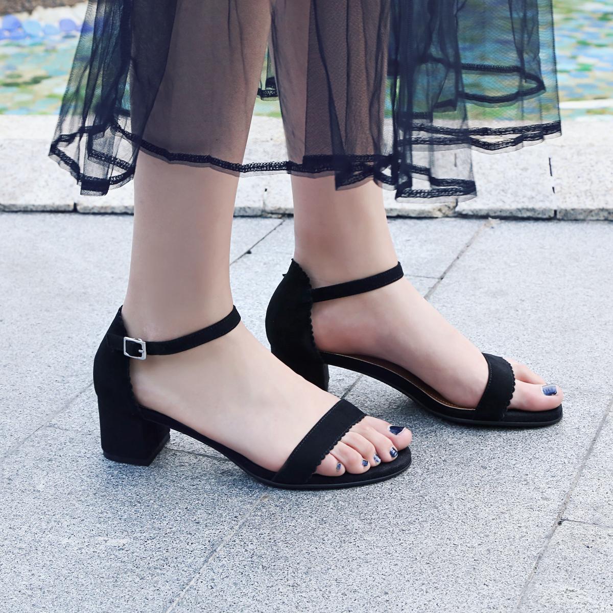 皇妹女鞋官方旗�店雨茜公主2018夏季新款嘉��多正品高跟鞋
