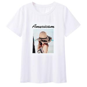 白色2021年新款夏季短袖冰棉t恤