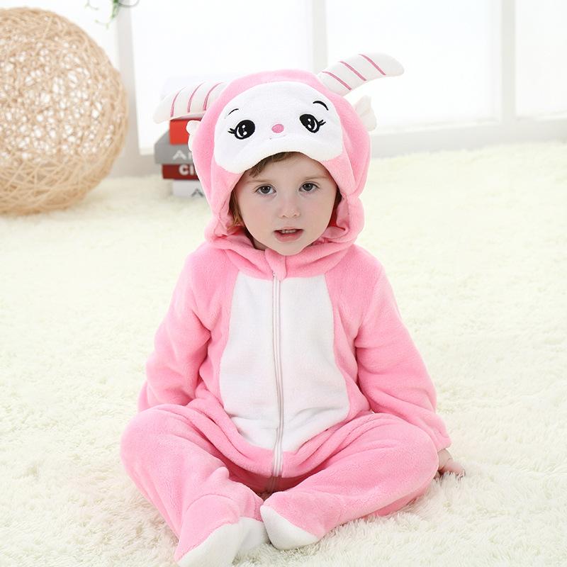 婴儿连体衣春秋宝宝衣服动物造型服装新生儿连体衣1-2岁儿童爬服