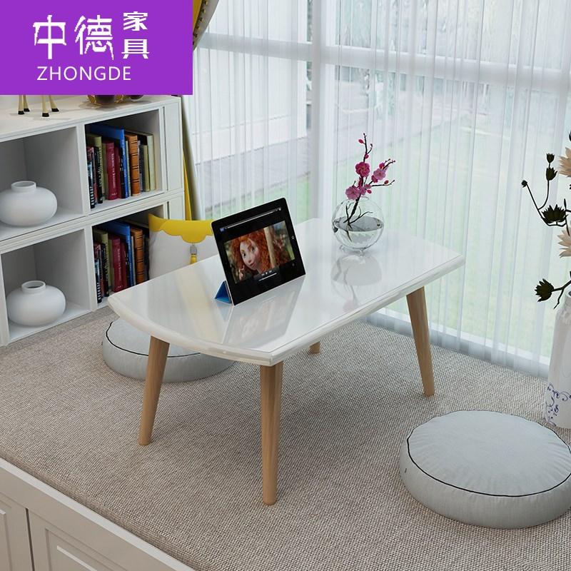 韩国小饭桌炕桌 韩式北欧风矮床上小桌子矮桌折叠炕桌折叠床上茶