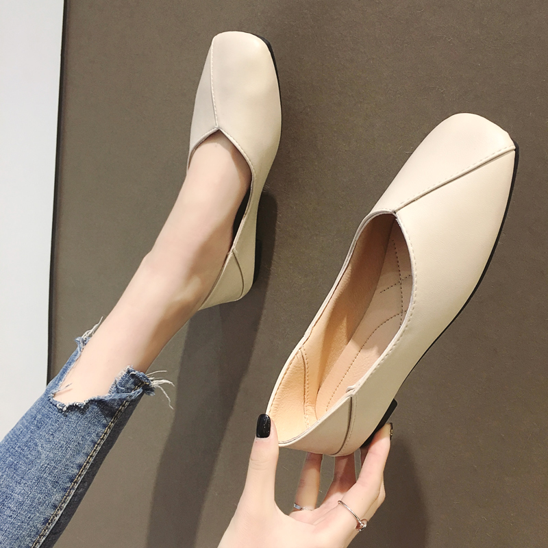Single shoe girl 2019 A summer Women's Shoes Versatile A pedal summer Shallow mouth spring and autumn Flat bottom Doug shoes black Grandma shoesin the Women's Shoes, Low shoes  category - from Buy2taobao.com to provide professional Taobao agent buy service