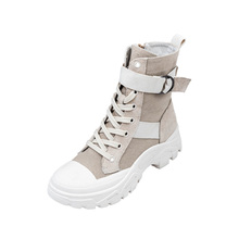 Martin Shoe Girl 2019 New British Wind Summer Handsome Air-breathable Locomotive Boots Spring and Autumn Single High Upper Shoes