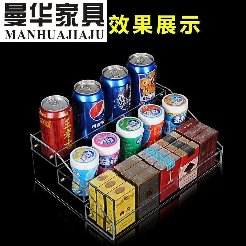 超市收银台前零食口香糖计生展示架便利店收款台吧******立家具同款
