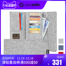 Pacsafe Long wallet male RFID more than 30 percent feature canvas wallet card bag mens wallet long